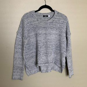 UO BDG grey thick knit crew neck boxy sweater